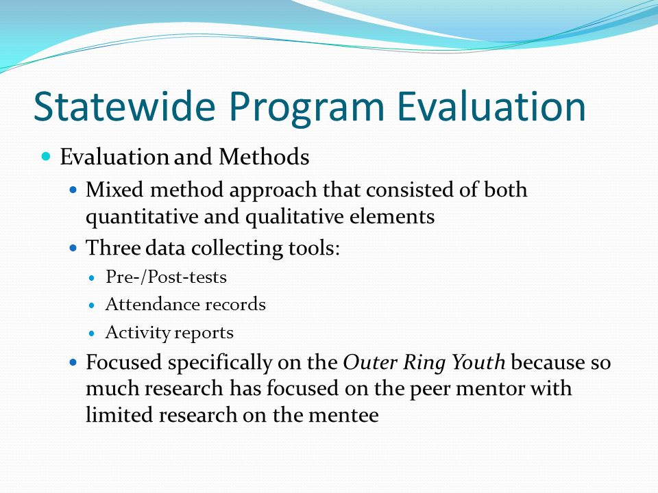 Statewide Program Evaluation