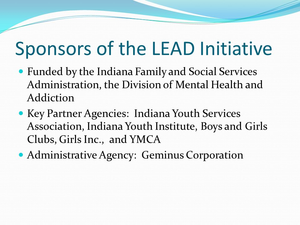Sponsors of the LEAD Initiative