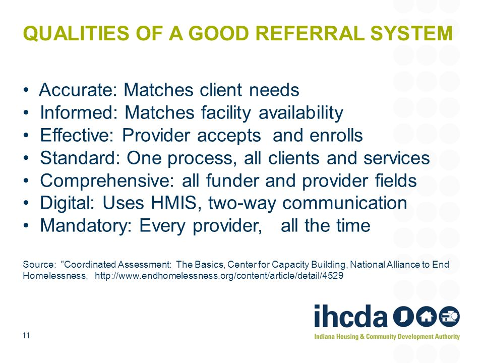 QUALITIES OF A GOOD REFERRAL SYSTEM