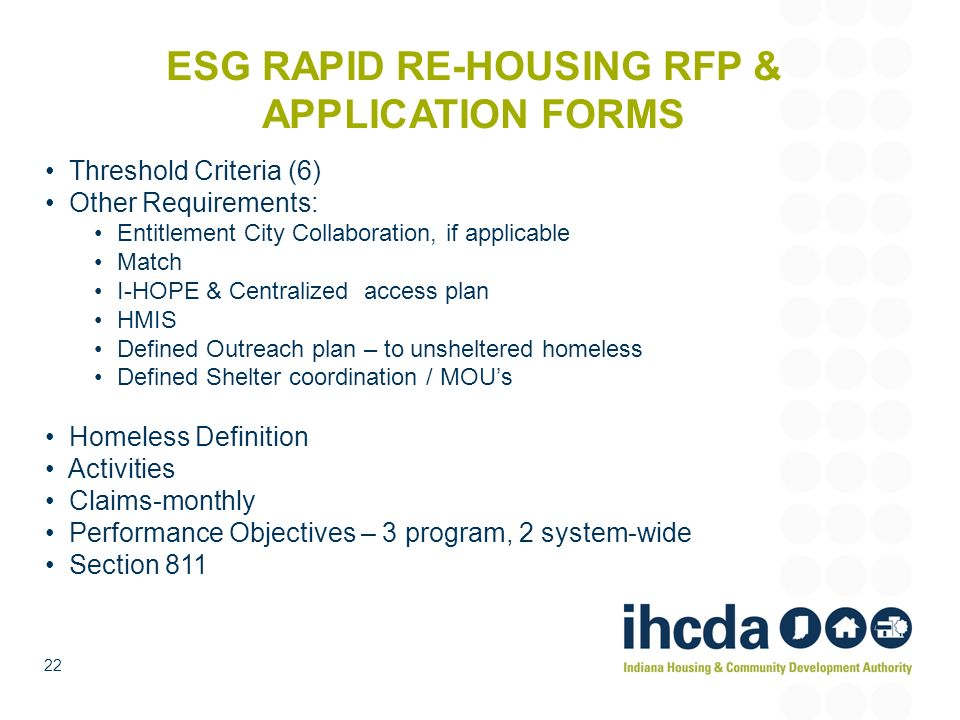 ESG RAPID RE-HOUSING RFP & APPLICATION FORMS