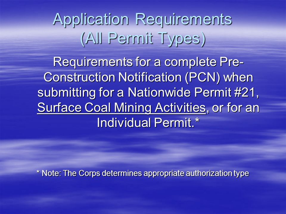 Application Requirements (All Permit Types)
