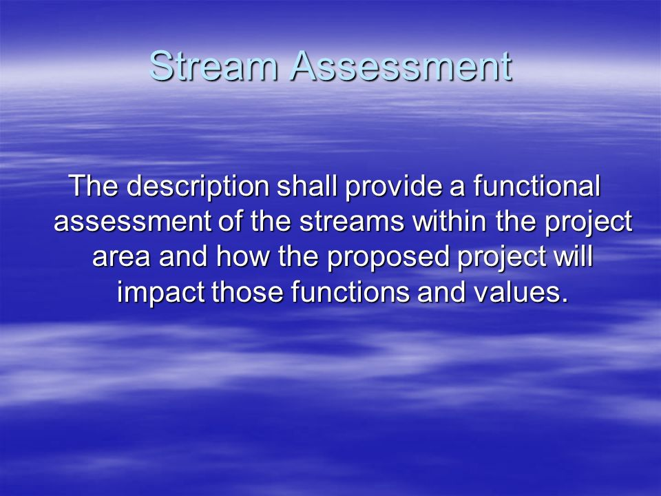 Stream Assessment