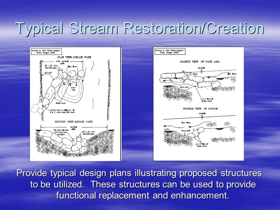 Typical Stream Restoration/Creation