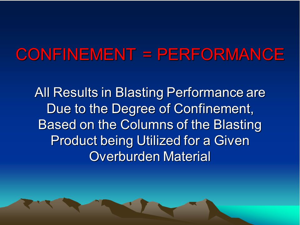 CONFINEMENT = PERFORMANCE