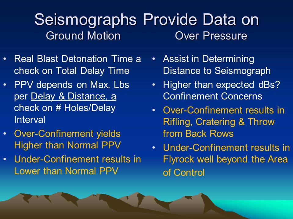 Seismographs Provide Data on Ground Motion Over Pressure