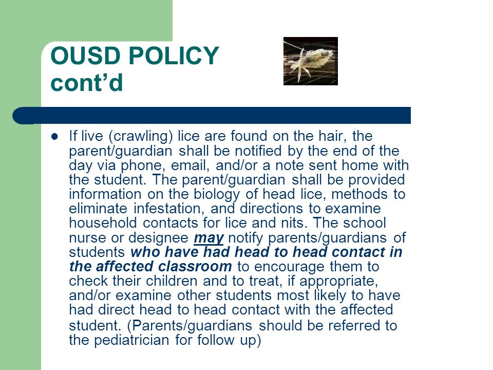 OUSD POLICY cont'd