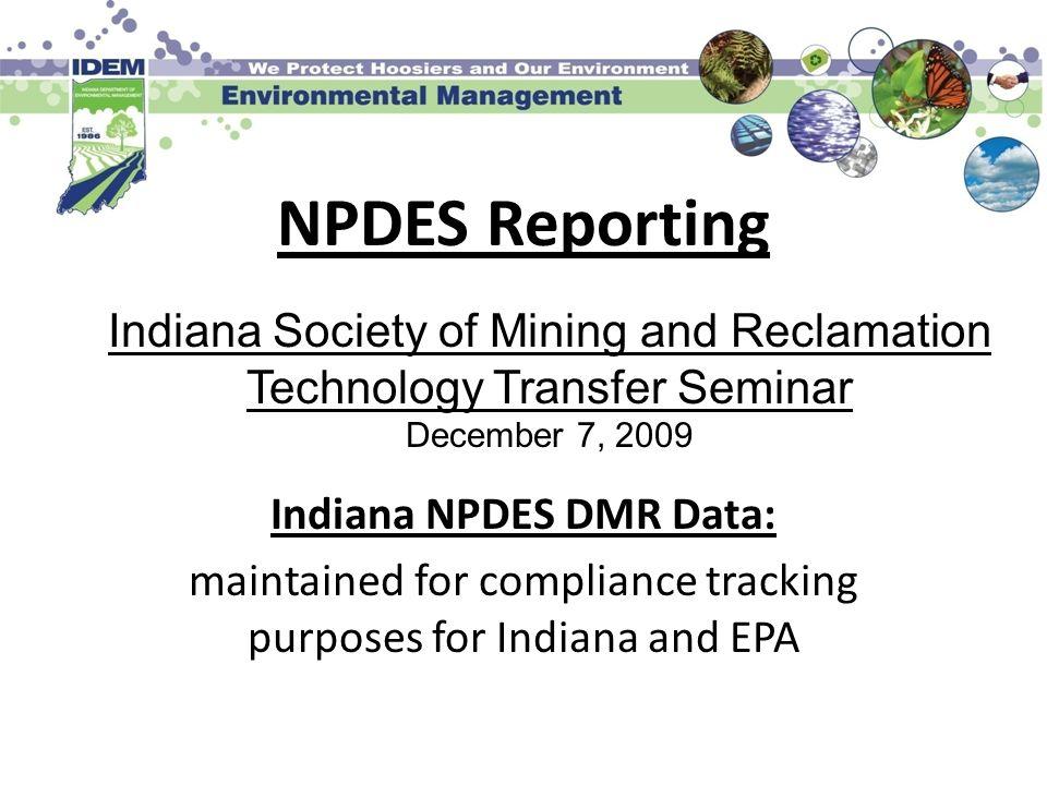 Indiana NPDES DMR Data: