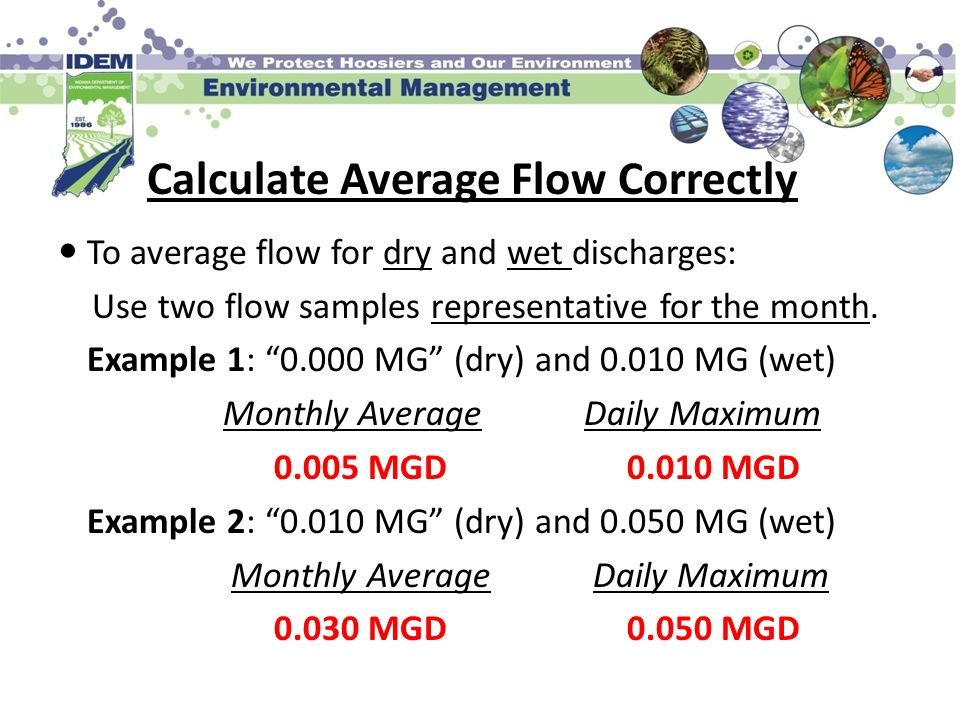 Calculate Average Flow Correctly