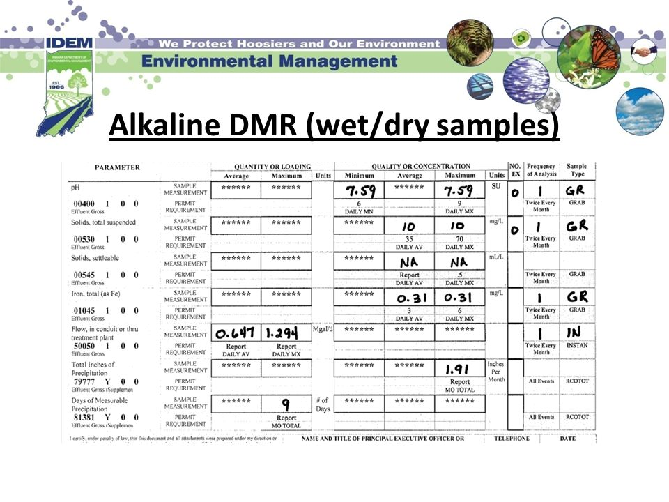 Alkaline DMR (wet/dry samples)