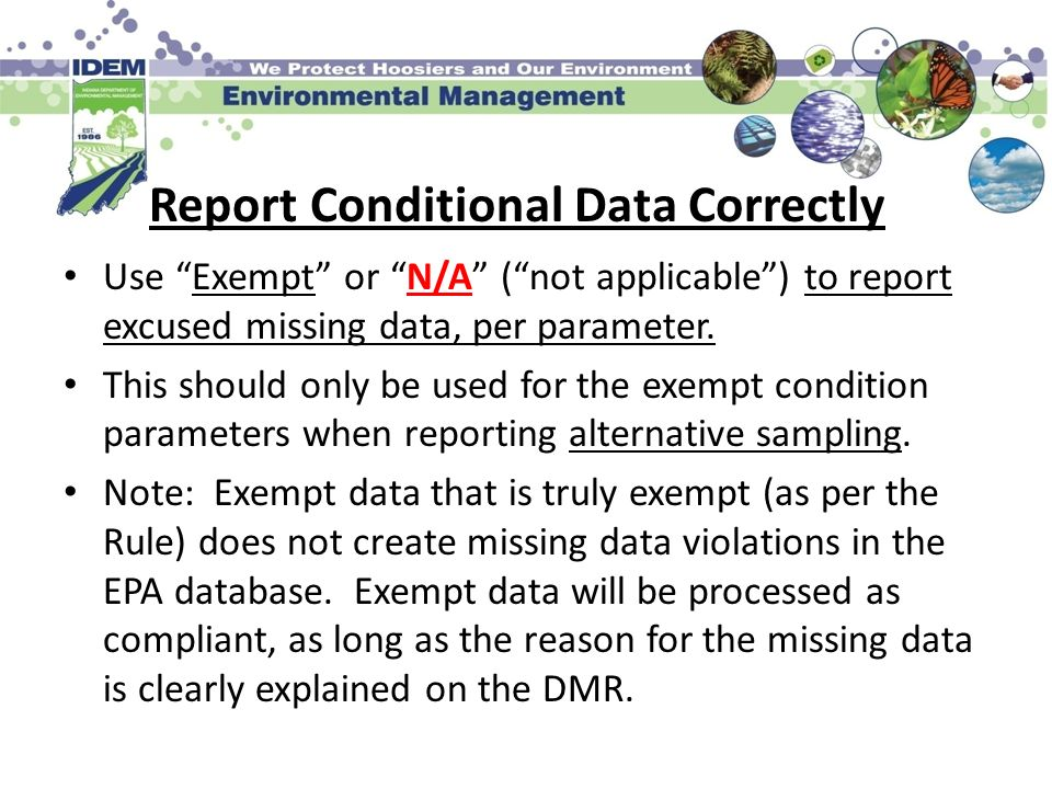 Report Conditional Data Correctly