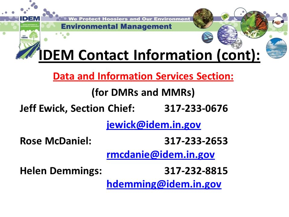 Data and Information Services Section:
