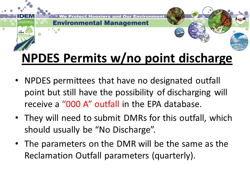 NPDES Permits w/no point discharge