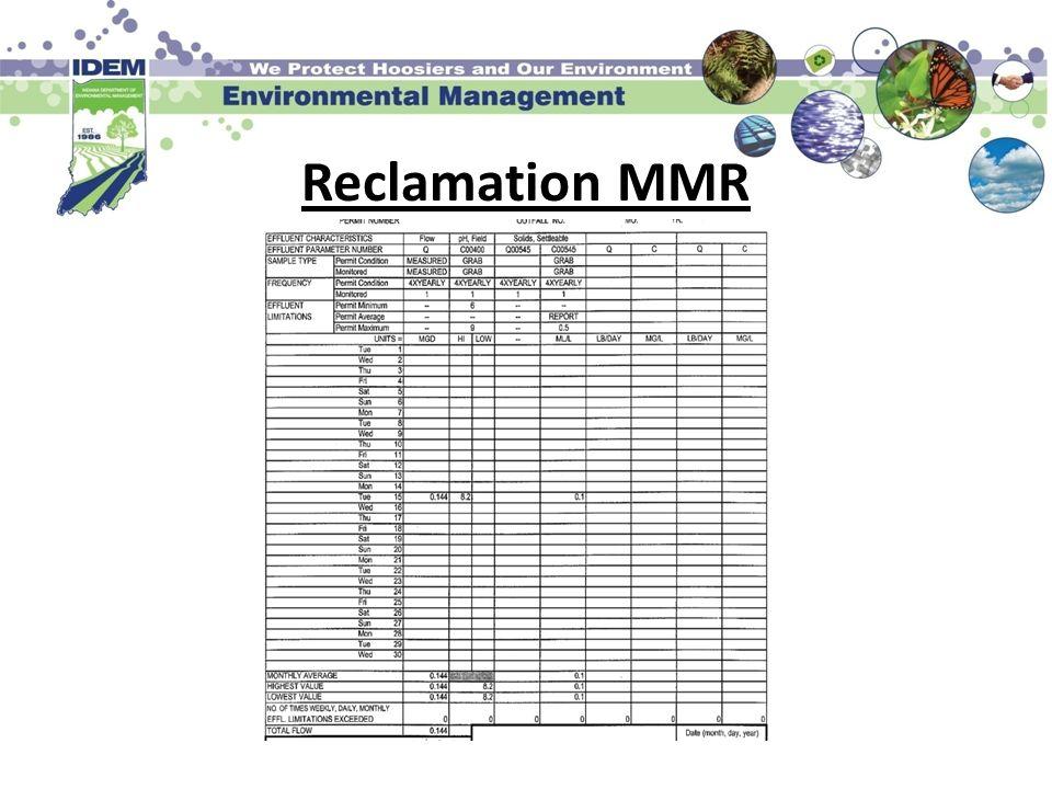 Reclamation MMR