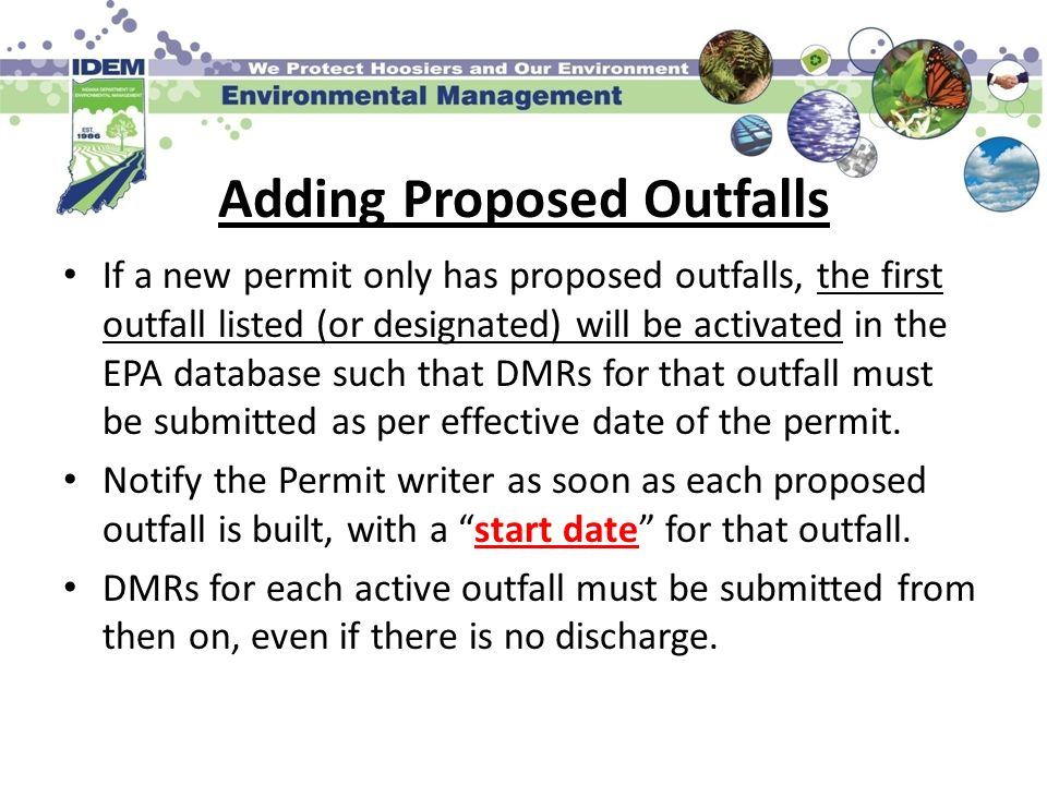 Adding Proposed Outfalls