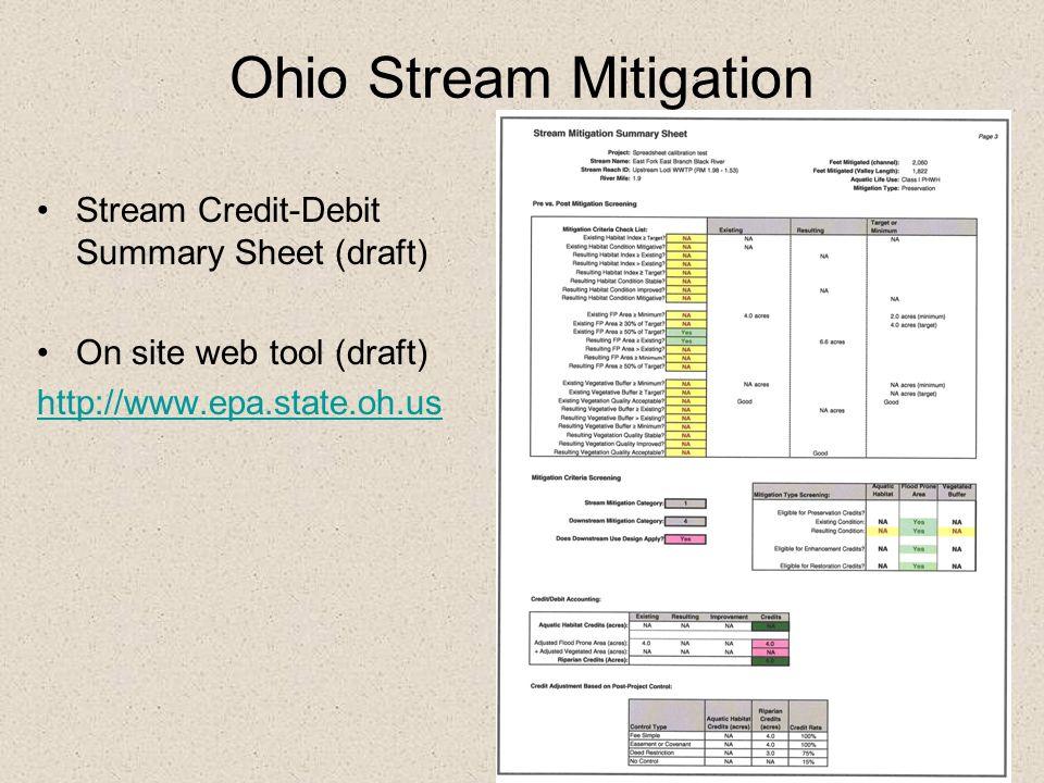Ohio Stream Mitigation