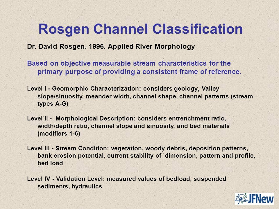 Rosgen Channel Classification