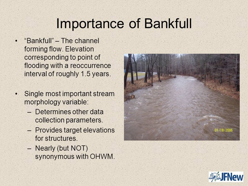Importance of Bankfull