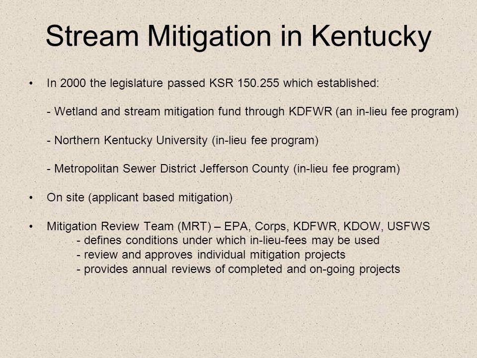 Stream Mitigation in Kentucky
