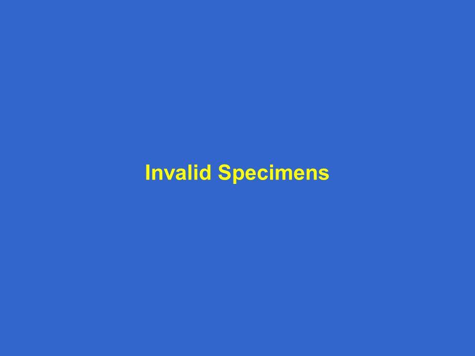 Invalid Specimens