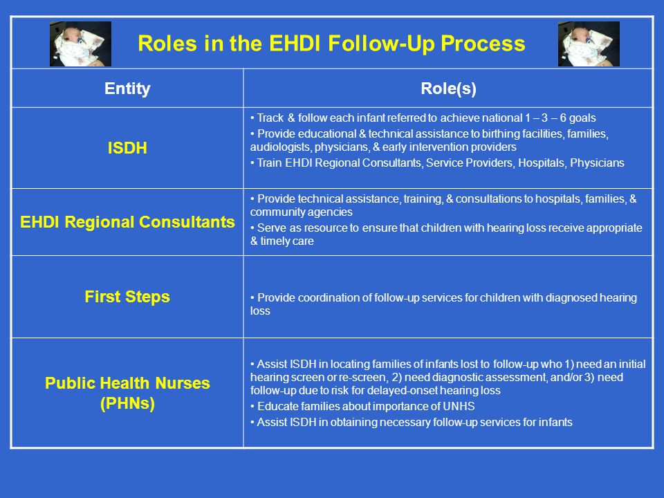Roles in the EHDI Follow-Up Process