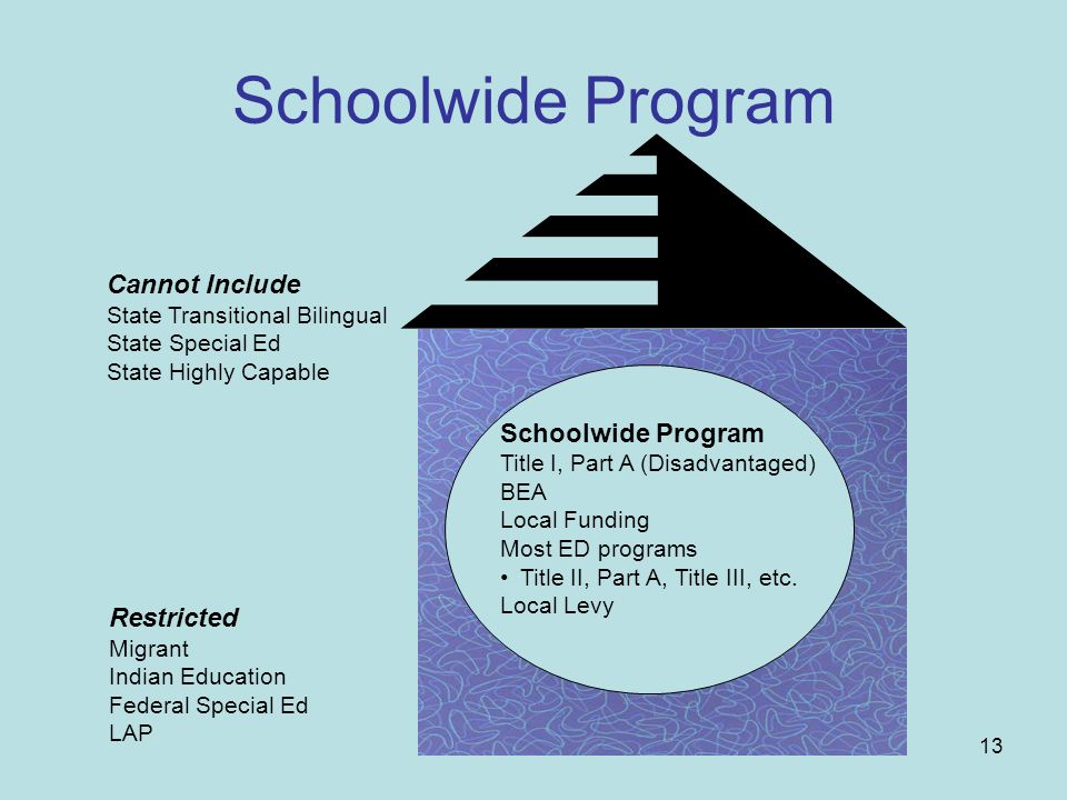 Schoolwide Program Cannot Include Schoolwide Program Restricted