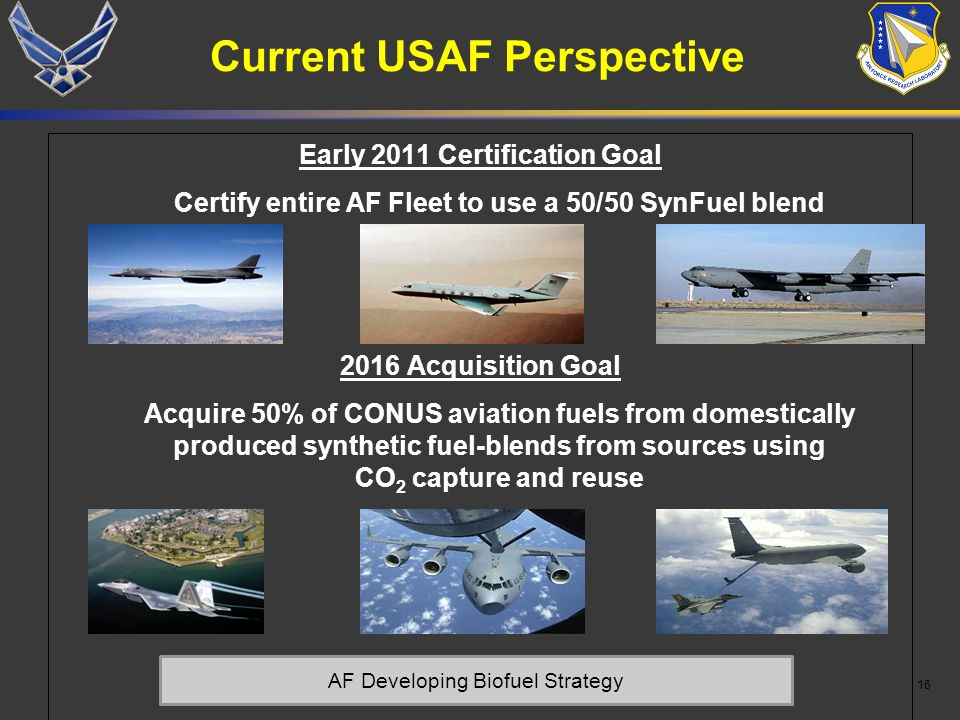 Current USAF Perspective
