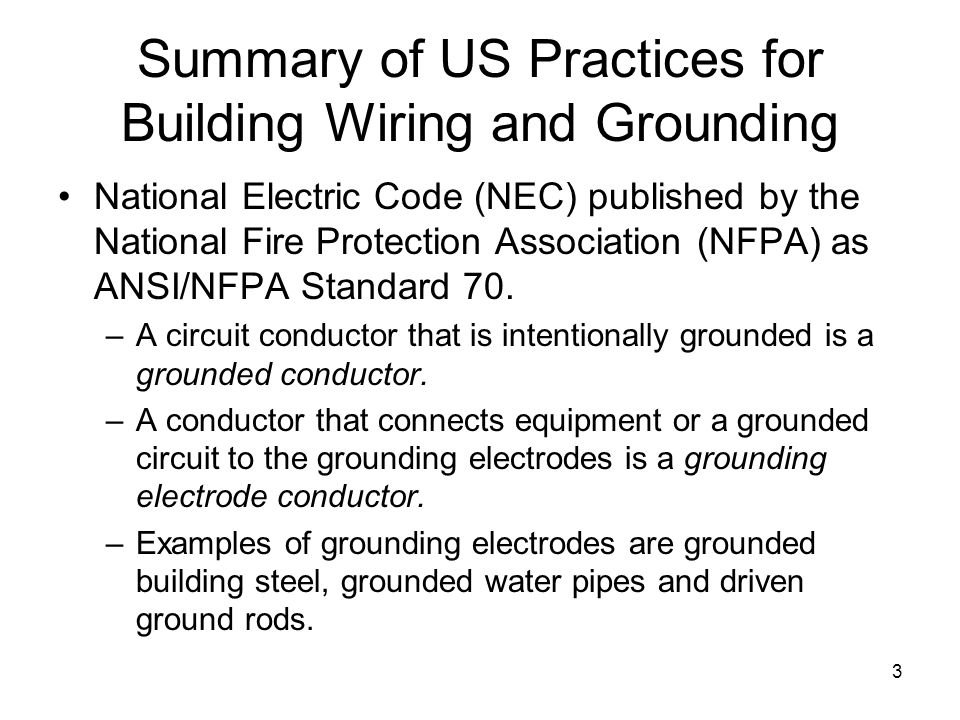 Summary of US Practices for Building Wiring and Grounding  sc 1 st  SlidePlayer : wiring practices - yogabreezes.com