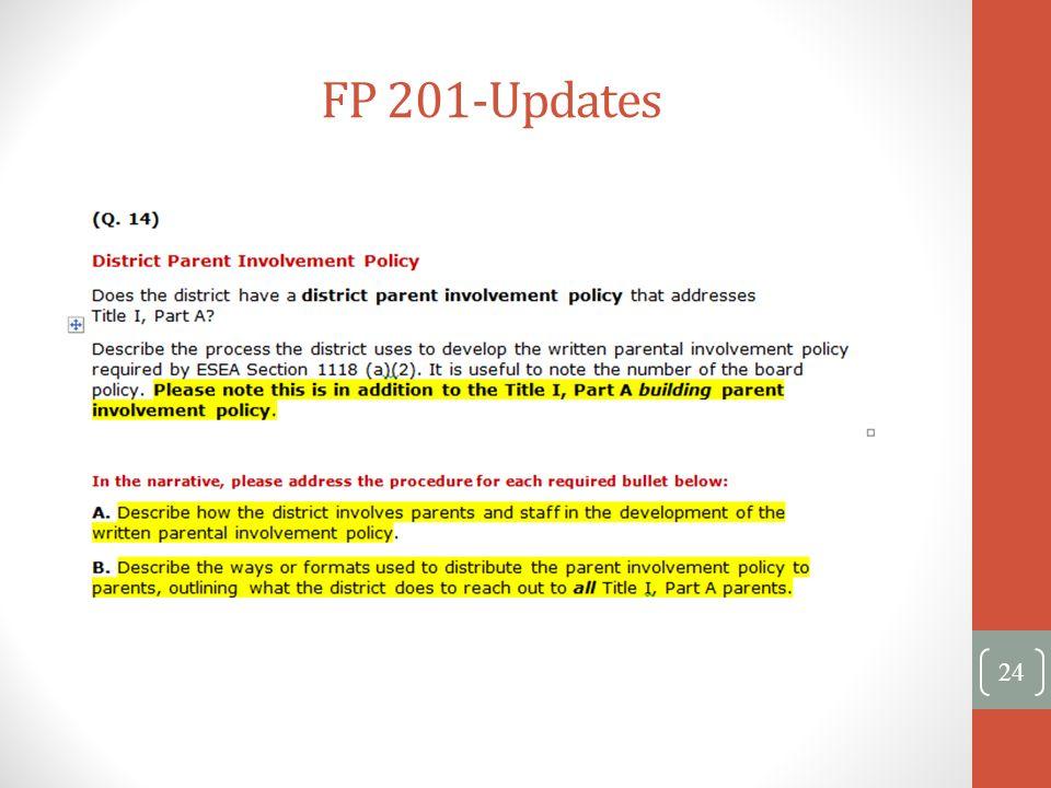 FP 201-Updates