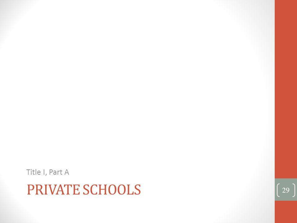 Title I, Part A Private Schools