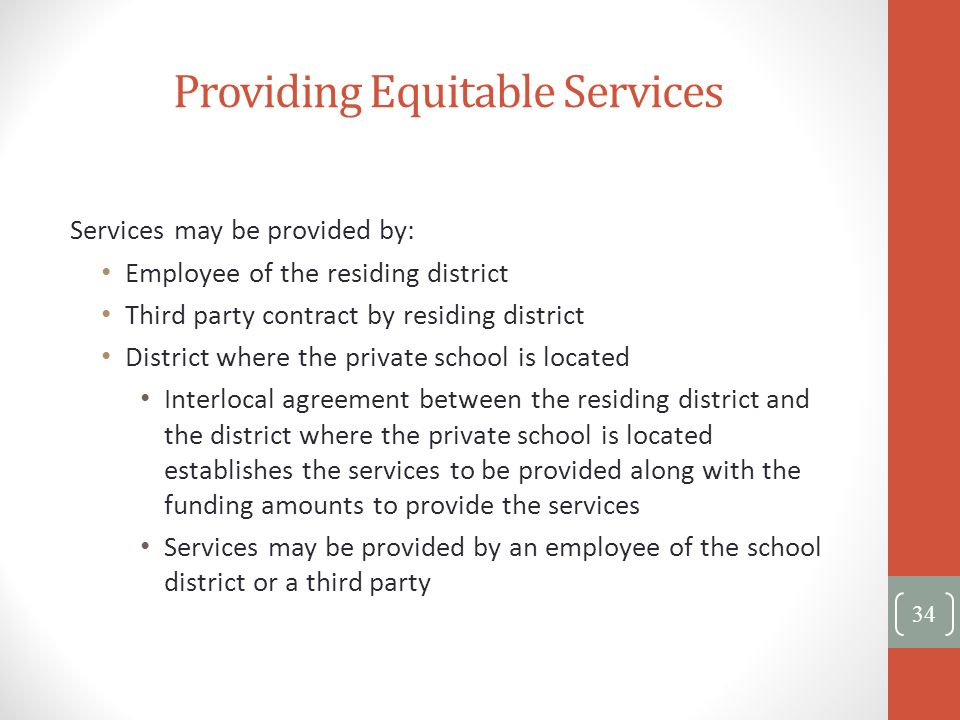 Providing Equitable Services