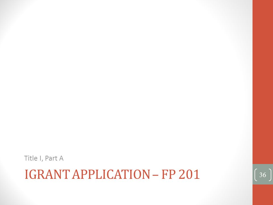 iGrant Application – FP 201