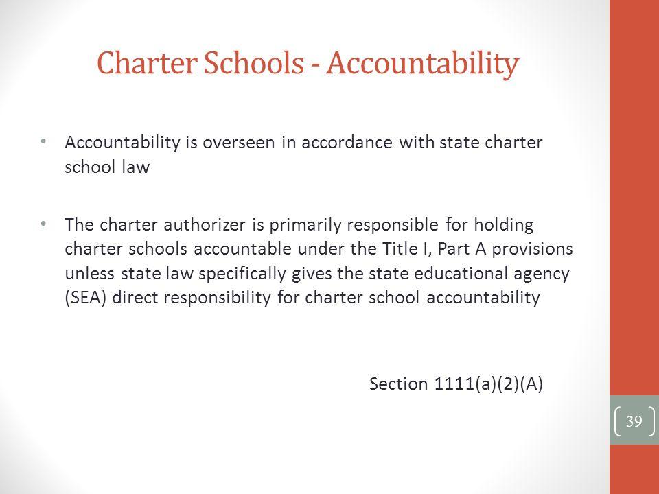 Charter Schools - Accountability