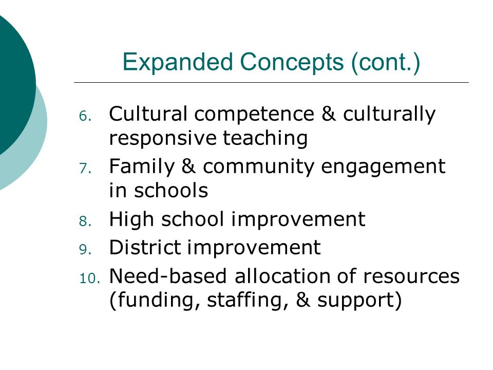 Expanded Concepts (cont.)