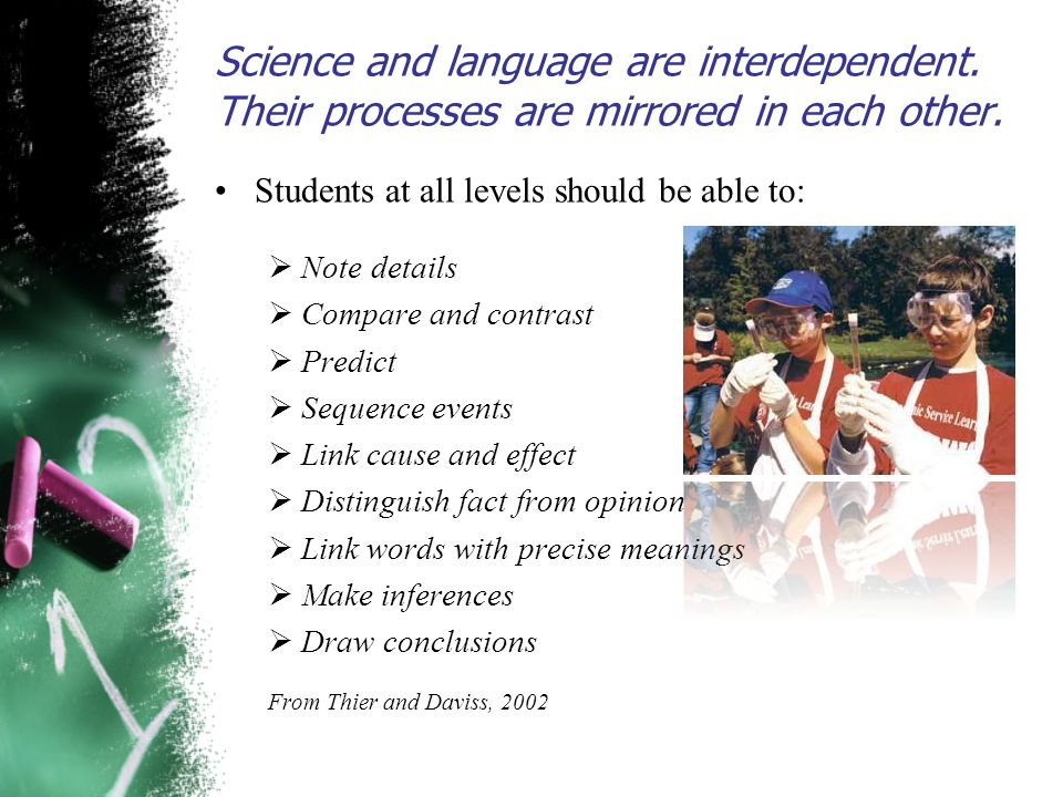 Science and language are interdependent