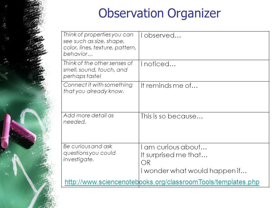 Observation Organizer