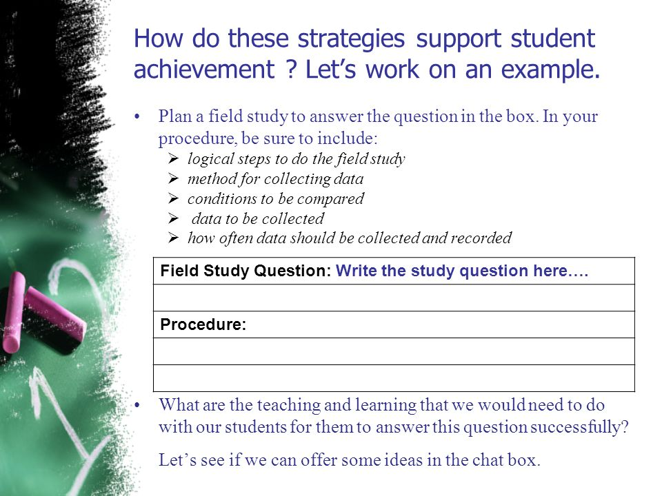 How do these strategies support student achievement
