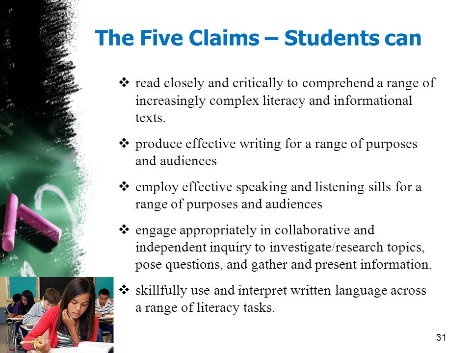 The Five Claims – Students can