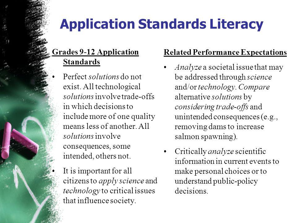 Application Standards Literacy