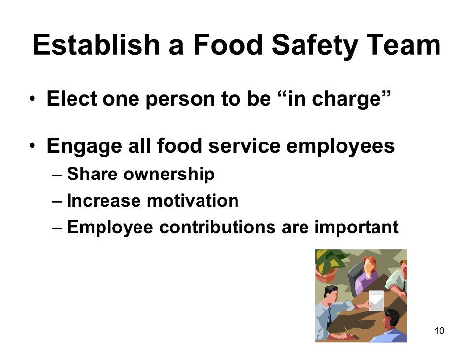 Establish a Food Safety Team