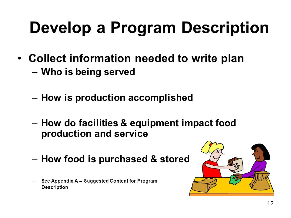 Develop a Program Description