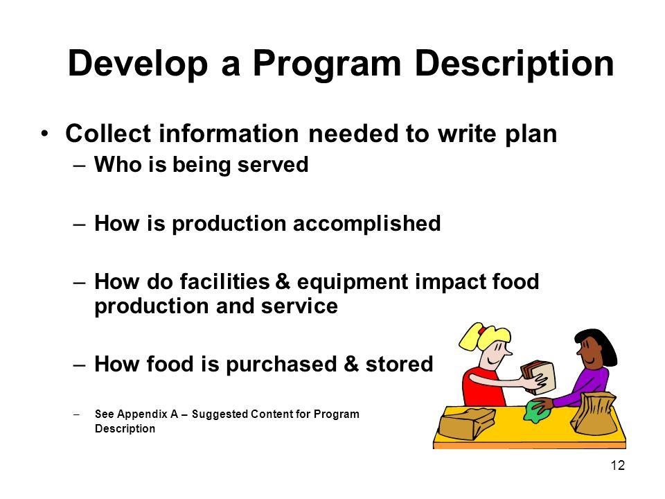 Develop a Program Description
