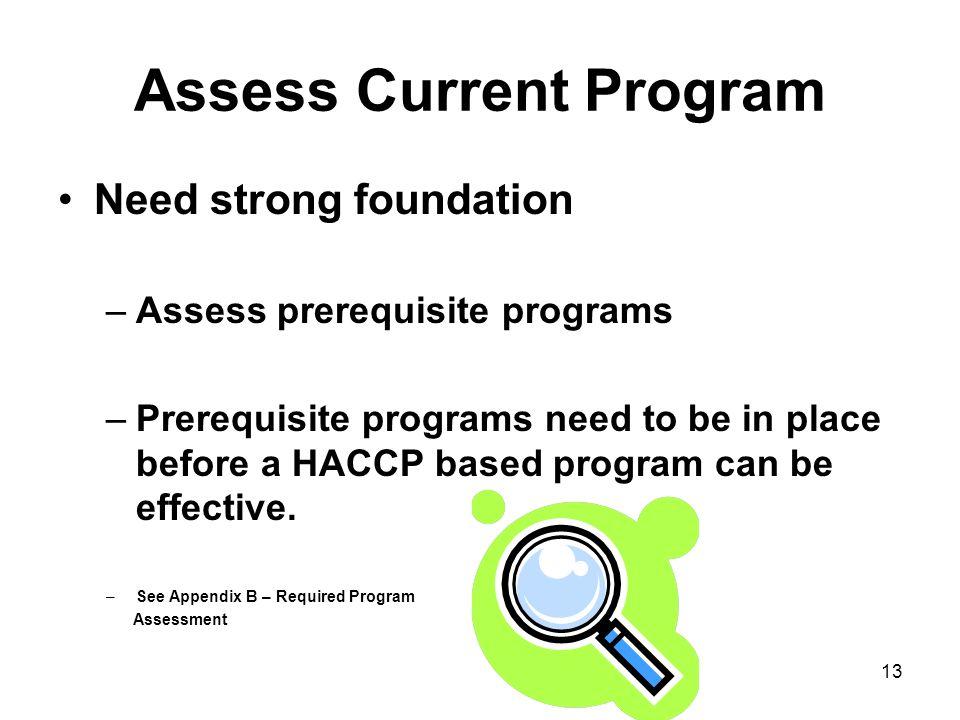 Assess Current Program