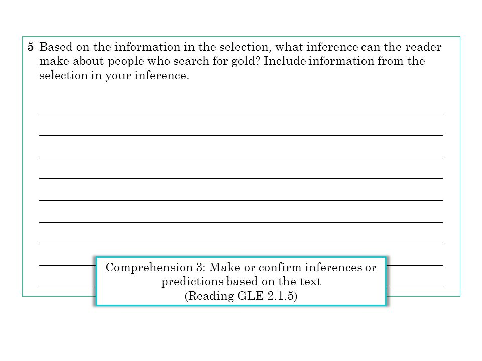 make about people who search for gold Include information from the