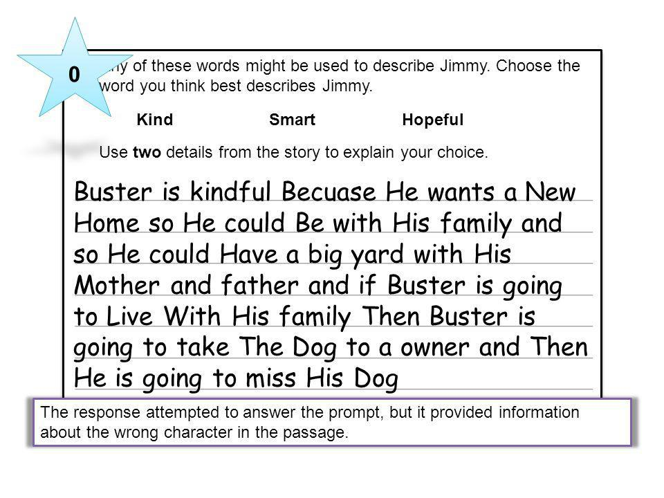 Buster is kindful Becuase He wants a New