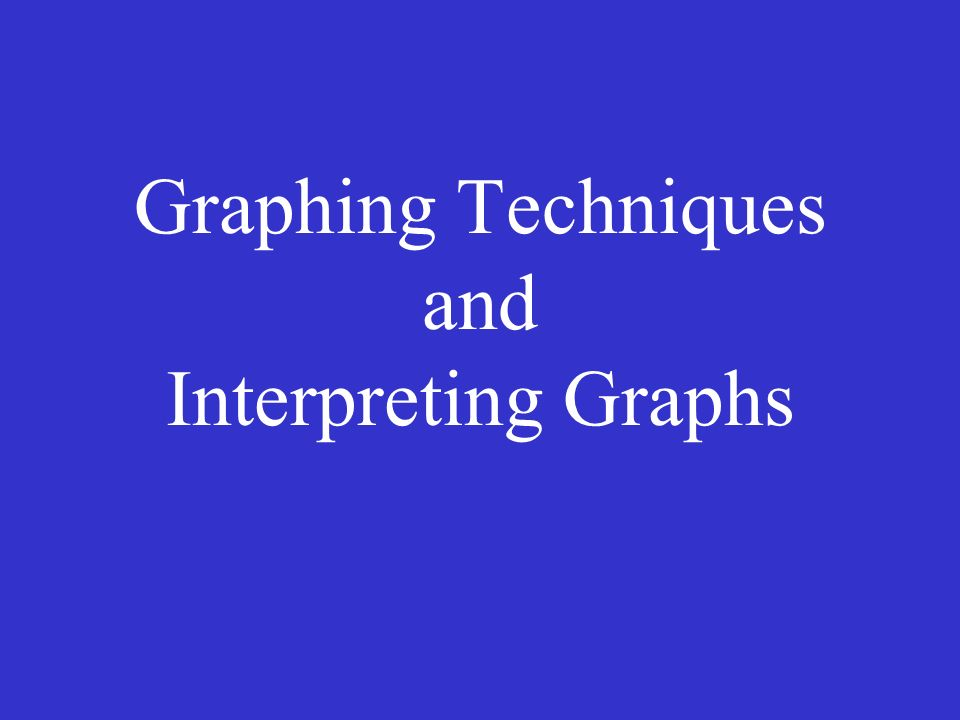 Graphing Techniques and Interpreting Graphs