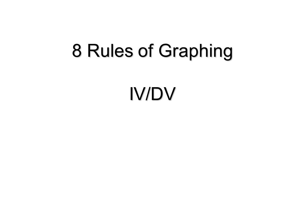 8 Rules of Graphing IV/DV