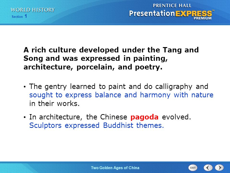 Objectives Summarize How The Tang Dynasty Reunified China