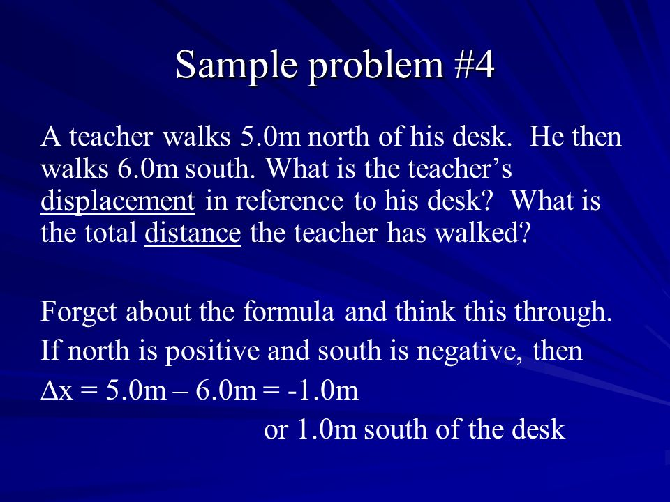 Sample problem #4