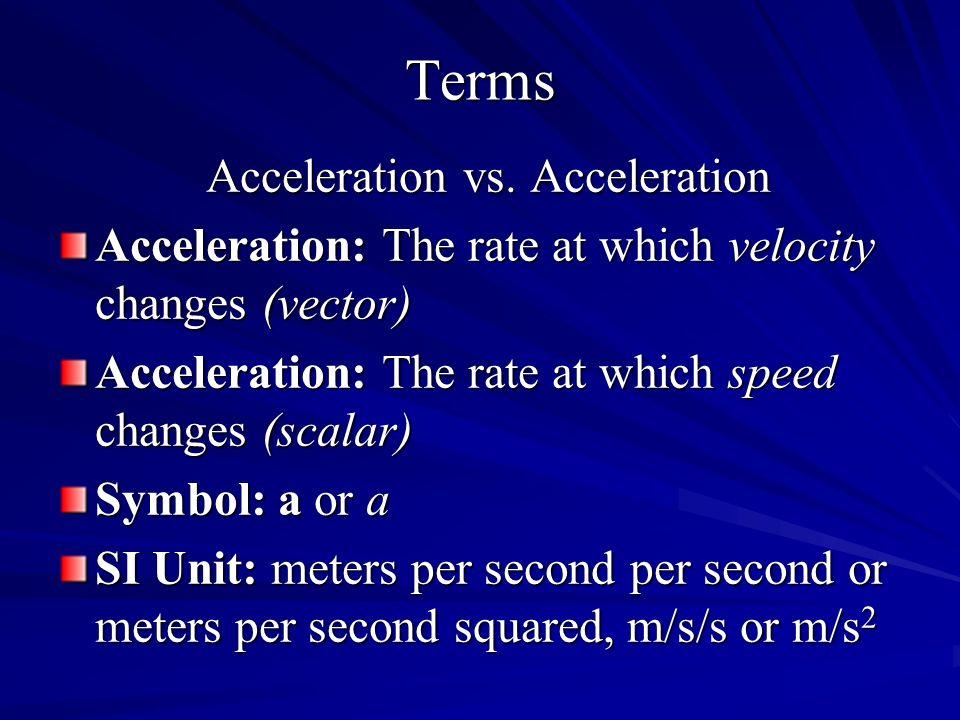 Acceleration vs. Acceleration