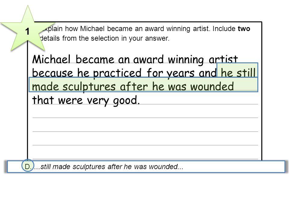 Michael became an award winning artist